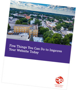 Cover of our Five Things You Can Do to Improve Your Website